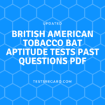 British American Tobacco BAT Aptitude Tests Past Questions PDF