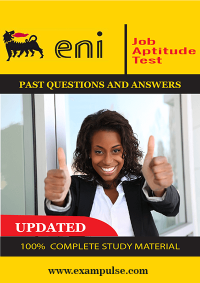 Eni Enterprise job test past questions and answers