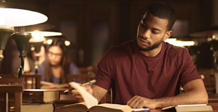 Nigerian man studying for verbal reasoning test