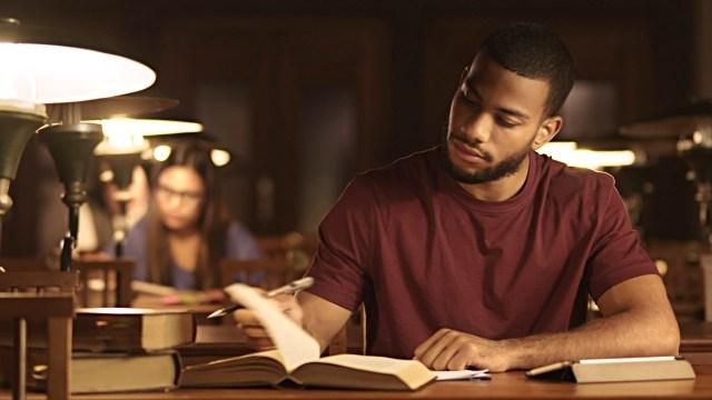 Nigerian man studying for verbal reasoning test
