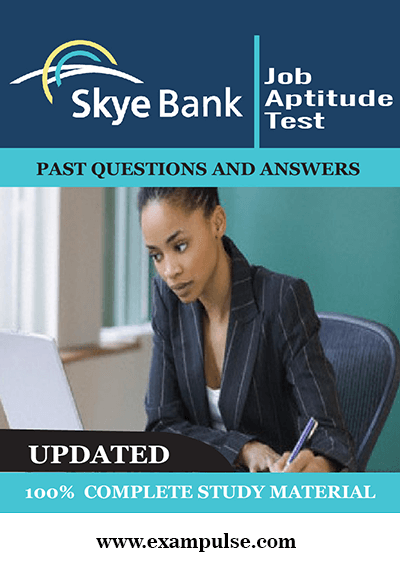 Skye Bank Job Test Past Questions Answers