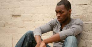depressed unemployed black man