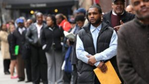 unemployed black man in search of work