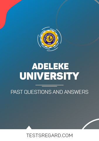 Download Adeleke University Post UTME Past Questions and Answers