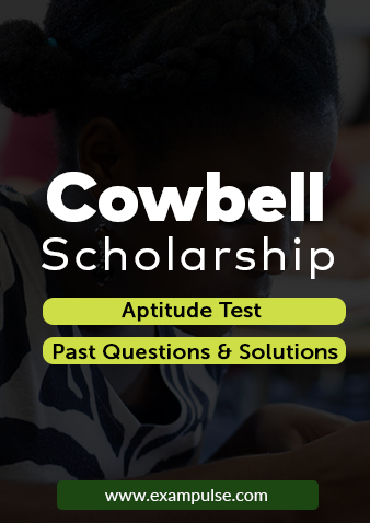cowbell scholarship aptitude test exampulse