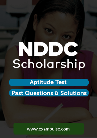 NDDC Scholarship Aptitude Test and Past Question