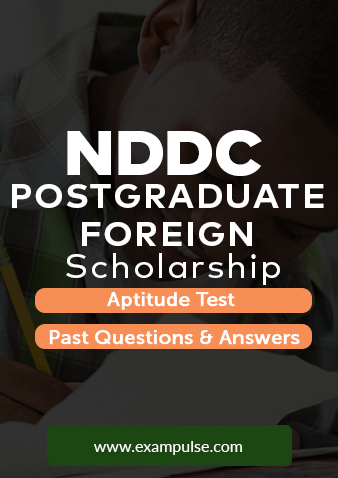 NDDC Postgraduate Scholarship Test Past Questions And Answers PDF – All  Courses
