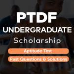PTDF Undergraduate Scholarship