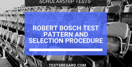 Robert Bosch Test Pattern And Selection Procedure