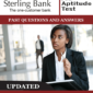 Sterling Bank Job Aptitude Tests Past Questions and Answers