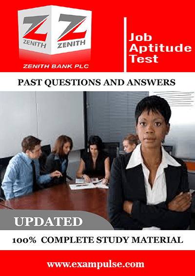 Zenith Bank Job Aptitude Test Past Questions and Answers PDF