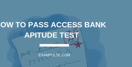 ACCESS BANK APTITUDE TEST EXAMPULE