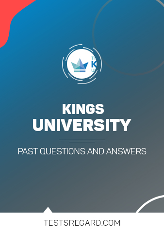 Kings University Post UTME Past Questions and Answers