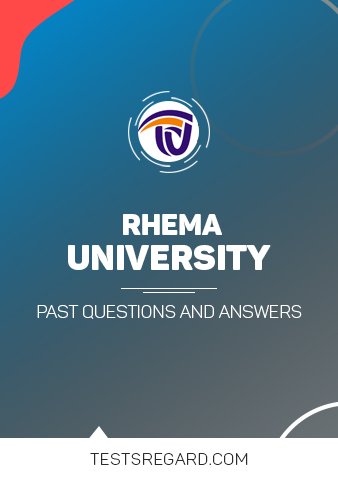 Rhema University Post UTME Past Questions and Answers Download PDF