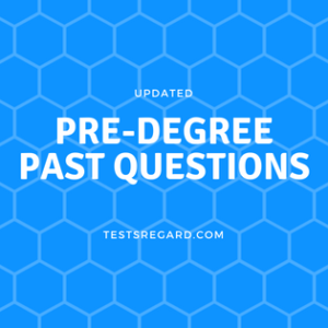 pre degree past questions and answers