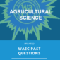 waec past questions agricultural science